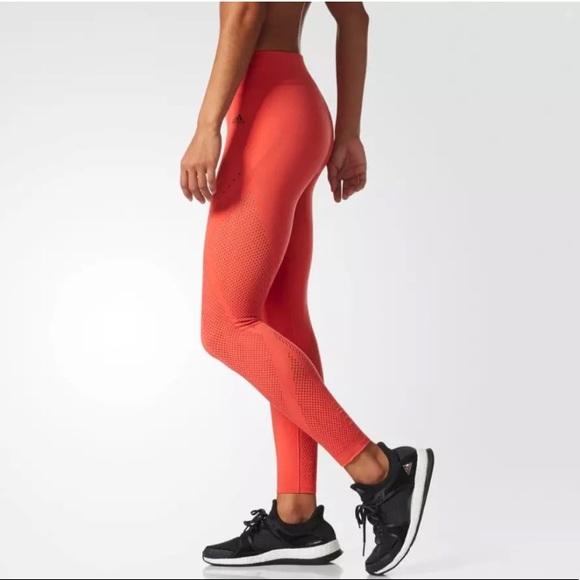 3943f19fac57a adidas Pants | Wonderflow Warp Knit Tights Coral Orange | Poshmark